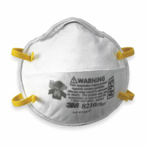 Example of an N95 respirator